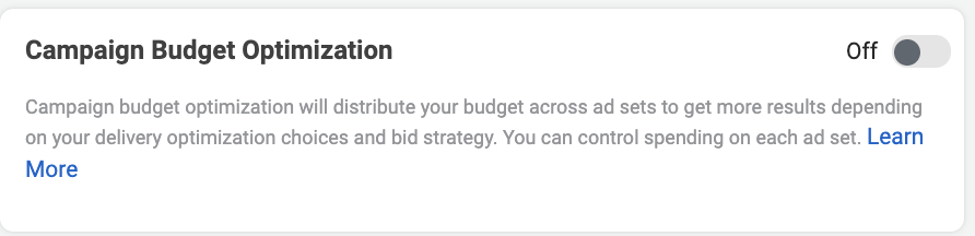 Facebook campaign budget optimizer