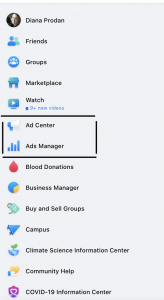 Facebook ads navigation